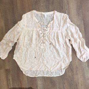 F21 Floral Sheer Blouse